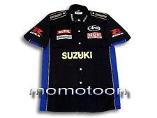 Men's Gift Motorcycle Biker Suzuki Superbike Racing Pit Shirt Size S