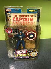 marvel legends captain america series 1 yellowed packaging toybiz