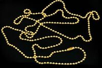 """30 Inch Military Spec Brass Steel Army Dog Tag 2.4mm Ball 30"""" Chain"""