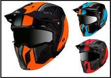 Mt Helmets Street Fighter Twin Motocicleta Moto Casco de deportes de doble