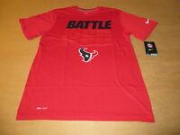 Houston Texans NFL Battle Red Men's Nike Dri Fit T-Shirt New