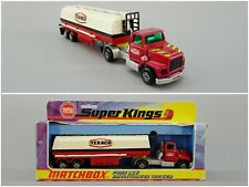 1970s Matchbox Super Kings K-16 Texaco Ford LTS Articulated Tanker with Box