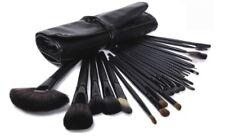 24 Piece Jet Black Make Up Brush Set With Case