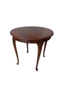 Tavolino inglese tondo - tavolo rotondo 81 cm  - faggio tinto noce -   primi 900
