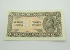 1944 Yugoslavian 10 DINARA Bank Note Jugoslavian Paper Money European