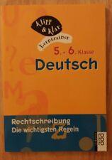 Klipp and Klar Lerntrainer Deutsch 5. + 6. Klasse Rechtschreibung...