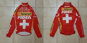 TELENET FIDEA Cycling Shirt XS/S Jersey Cycle Camiseta Red Bioracer Vintage