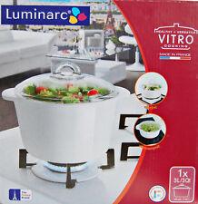 Luminarc Vitro in Weiß Kochtopf mit Deckel 3 Liter Glasdeckel Glastopf NEU