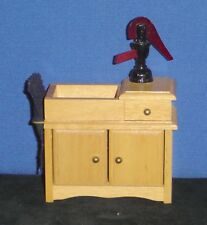 """Doll House: Old Fashion Wash Stand with Water Pump (4 3/4""""x3 3/4""""x2"""") -pre-owned"""
