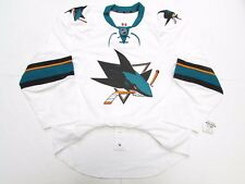 SAN JOSE SHARKS AUTHENTIC AWAY TEAM ISSUED REEBOK EDGE 2.0 7287 JERSEY SZ 58+