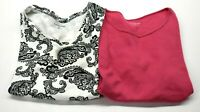 Croft & Barrow Women's Medium V-Neck & Crewneck Short Sleeve T-Shirts Lot of 2