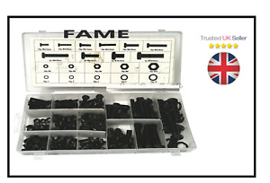 240pc Nut And Bolt Assortment Set Hex Head Fasteners in Case M4 M5 M6 M8 M10 240