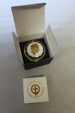 Windsor Castle St Georges Chapel 22 ct gilt trinket pill box Royal souvenir