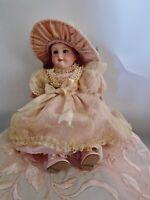 "14"" Antique Armand Marseille German Bisque Doll 390 A.2/0.M Blue Sleep Eyes"