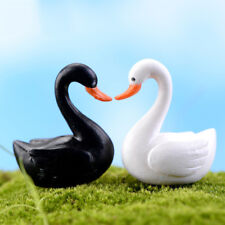 1Pairs Miniature Swan Fairy Garden Micro Landscape Decor Craft Bonsai Figurines