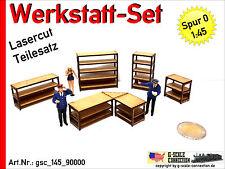 Spur 0 Werkstatt Set - Werkbänke & Regale - Lasercut - 1:45 - gsc_145_90000