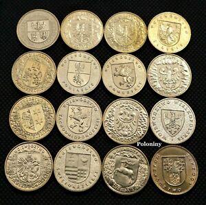 LOT OF SIXTEEN COMMEMORATIVE COINS OF POLAND - POLISH VOIVODESHIPS (WOJEWODZTWA)
