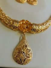Indian Gold Plated Necklace Set With Earring Bridal Bollywood