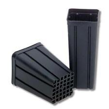 Vaso quadrato plastica nero 2,4L antispiralizzazione costolatura 13x13x18 100pcs