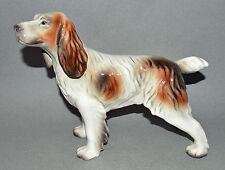 """Vintage 10"""" Goldscheider Spaniel Hunting Dog Standing Figure Figurine Porcelain"""