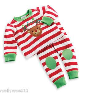 Mud Pie Baby Girl Boy Reindeer 2 Piece Cotton Xmas Christmas Oufit Set
