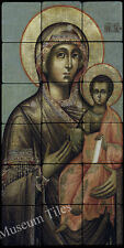 12x24 Grecian The Virgin and Child Religious Art Tumbled Marble Tiles