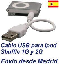 Cable USB para Apple iPod Shuffle 1G 2G Cargador Sincroniza Datos Jack MP3 MP4