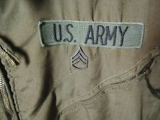 US Military Green Army Suit Vehicle Used Coveralls - Patches - XL-REGULAR