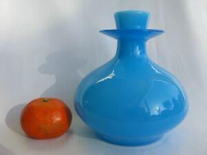 Vintage Boda Erik Hoglund Art Glass Crystal Signed Blue Vase