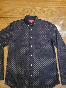 Supreme Black Oxford Buttondown Size M Diamond Pattern