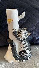 New listing Sigma Taste Seller Kliban Cat Candle Holder Signed By Artist W/Sticker Vintage