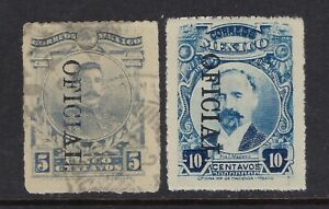 MEX 1921 5$10c HERRERA & MADERO OFFICIAL ISSUE STAMP  SC#0149-50 CV$2+(al325)