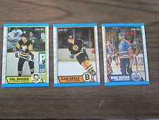 1989-90 O-Pee-Chee 3 card lot (B23) Phil Bourque #19 Cam Neely #15 Mark Messier
