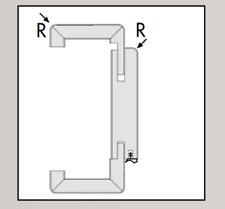 Ringo Türblatt CPL-Oberfläche Eiche hell Röhrenspanstreifen Rundkante R2