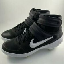NEW Nike Alpha Huarache Elite 2 Mid Baseball Cleats Black AJ6874-001 Men's sz 9