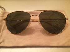 Oliver Peoples Benedict Enamel Sunglasses In Gold/Forest