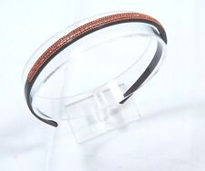 Womens Super skinny sparkle Orange Gem tined fashion headband 1/4 inches wide