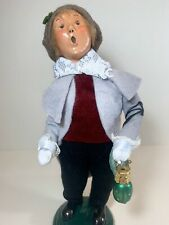 Byers' Choice 1999 Caroler Boy with Ornament (15/100) in New Excellent Condition