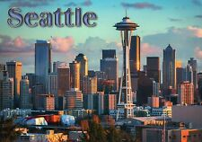 Seattle Downtown Skyline, Space Needle, Clouds, Sky, Washington State - Postcard