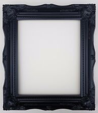 "16x12"" Black Shabby Chic Ornate Swept Picture Photo Frame with Glass + Back"