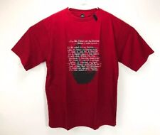 "Vintage Retro 2 PAC Tupac Makaveli Rap Lyrics T Shirt Mens XL/2XL 24.5"" Chest"