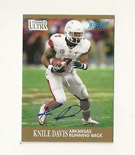 2013 Fleer Retro Autographs #31 Knile Davis RC Auto Chiefs Arkansas Steelers