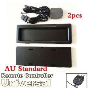 AU Car Shutter Electric Roll Up License Plate Frame Holder Bracket w/Remote 2x