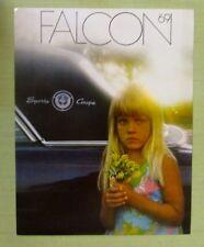 Vintage 1969 FORD FALCON DEALER SALES BROCHURE Color Sport Coupe Wagon Child 12p