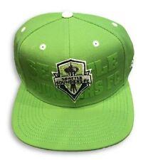 NWT New Seattle Sounders FC adidas MLS Academy Rave Green OSFA Snapback Hat Cap