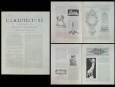 L'ARCHITECTURE n°25 1902 SALON, ART NOUVEAU, MAJORELLE, HENRI SAUVAGE, PESNE