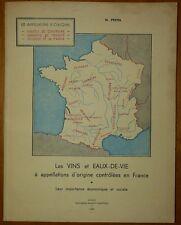 PESTEL: Les vins et eaux-de-vie à appellations d'origine controlées / 1959