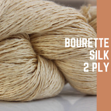 1 Skein - 500 Meters - 100 Grams - 10's Nm BOURETTE Silk / 2 Ply - Knit / Weave