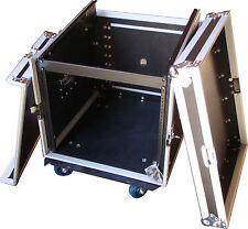"Speed Case 19"" 8U amp / 12RU mixer slanted flight road case with wheels"