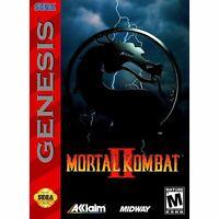 Mortal Kombat II 2 - Sega Genesis Game *CLEAN VG